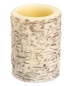 Look at this Small LED Birch Candle on #zulily today!