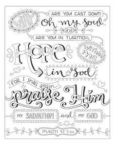 Who's in Control of Your Time?Harvest House - FREE Bible coloring page sample from Discovering Hope in the Psalms Free Adult Coloring, Adult Coloring Book Pages, Colouring Pages, Coloring Books, Coloring Sheets, Bible Verse Coloring Page, Bible Crafts, Bible Art, Religion