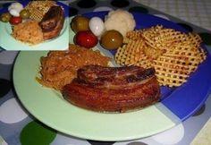 Konfitált császárhús Cake Recipes, French Toast, Pork, Meat, Breakfast, Dump Cake Recipes, Pork Roulade, Morning Coffee, Pigs