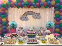 Rainbow Birthday, 1st Birthday Girls, 2nd Birthday Parties, Diy Birthday, Unicorn Party, Unicorn Birthday, Girl Birthday Decorations, Baby Deco, First Birthdays
