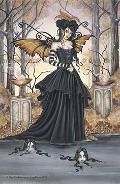 A Dark Undercurrent gothic fairy MiniPrint by Amy Brown. $5.00, via Etsy.