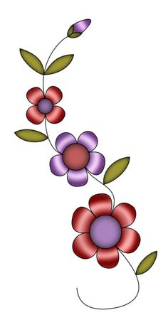 Embroidery Flowers Pattern, Embroidery Art, Flower Patterns, Flower Images, Flower Pictures, Flower Art, Pretty Flowers, Colorful Flowers, Beautiful Flower Drawings