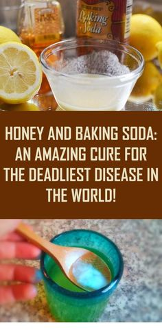 Honey and Baking Soda: An Amazing Cure For The Deadliest Disease in the World! Holistic Remedies, Herbal Remedies, Natural Home Remedies, Health Remedies, Cancer Fighting Foods, Natural Cancer Cures, Natural Healing, Prostate Cancer, Cancer Cells