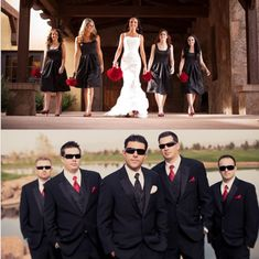 I like the positioning of bridesmaids and groomsmen.