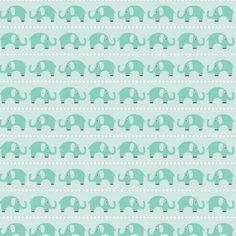 Stoff Elefanten - Stoff Riley Blake Oh Boy Elefant - ein Designerstück von LottiKlein bei DaWanda