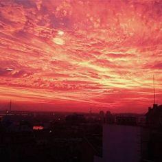 Zalazak Sunca u Beogradu danas je bio, u najmanju ruku, spektakularan.