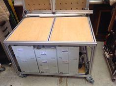 MFT trolley made from aluminium extrusion. aju3169. Festool.