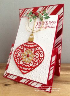 Just Add Ink, Embellished Ornaments, Stampin Up, Upright Z Fold, Fun Fold…