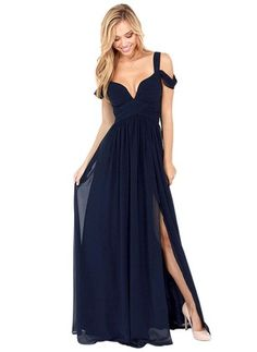 Polyester Solid Short Sleeve Maxi Sexy Dresses (1011918) @ floryday.com