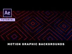 Advanced Motion Graphic Backgrounds in After Effects - Complete After Effects Tutorial - YouTube