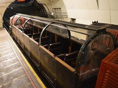 """London's abandoned tunnels of the """"Mail Rail"""". Driverless trains once used to transport mail have been collecting dust for a while now. To be revamped as a museum."""