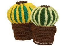 """Tutorial: cactus redondo con """"espinas"""" amarillas!"""