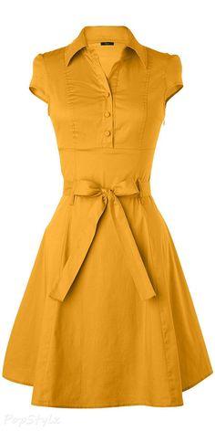 Anni Coco Vintage 1950s Rockabilly Swing Shirt Dress