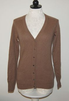 Lord & Taylor 100% Cashmere Woman's Gray Knit Cardigan Sweater ...
