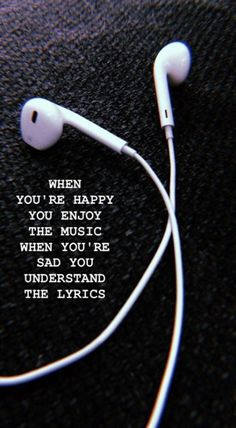 Enjoy the music Wallpaper - Musik - Wallpaper Mood Quotes, New Quotes, True Quotes, Inspirational Quotes, Motivation Quotes, Missing Quotes, Heart Quotes, Short Sad Quotes, Feeling Sad Quotes