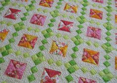 Jewel box quilt. I've always been crazy about this pattern and I love the colors she used.