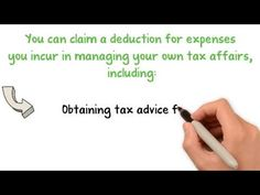 Tax Deduction for Cost of Managing Tax Affairs