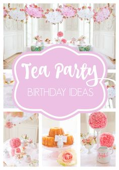 At some point in every little girl's life, it's time to have a tea party! So why not use the wonderful inspiration that comes from tea parties and throw the most Sweet Tea Birthday Party for little belles and beaus?   Afternoon Tea Parties for Little Girls @littlegirlsbows Toddler Tea Party, Girls Tea Party, Princess Tea Party, Tea Party Theme, 3rd Birthday Parties, Birthday Ideas, 2nd Birthday, Party Party, Princess Room