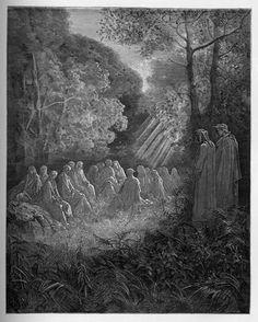 Purgatory: Dante looks upon the negligent rulers. Creator: Doré, Gustave Date: c.1868