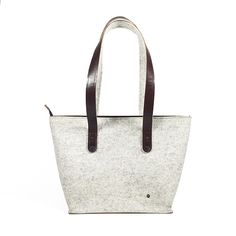 shoulder bag - ANNA - white melange 1 Anna White, Purses And Bags, Felt, Shoulder Bag, Queen, Handbags, Tote Bag, Fashion, Moda