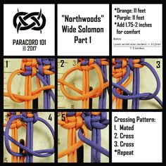 -Northwoods Wide Solomon- #paracord #paracord101