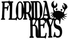 Florida Keys Scrapbooking Laser Cut Title With Crab