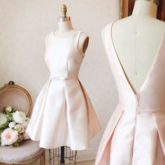 Cute Homecoming Dress A-line Scoop Bowknot Pearl Pink Short Prom Dress Party DressFind unique, vintage and handmade Best A-Line Crew Short Pearl Pink Satin Homecoming Dress Homecoming Dresses in sevengrils A-Line Crew Short Pearl Pink Satin Homecomin Cute Homecoming Dresses, Prom Dresses 2018, Dresses Short, Prom Party Dresses, Simple Dresses, Dress Party, Evening Dresses, Wedding Dresses, Dance Dresses