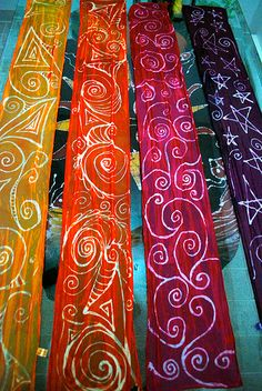 My silk painting experiment   Flickr - Photo Sharing!