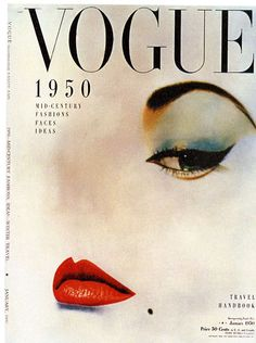 Vogue/Condé Nast Publications Erwin Blumenthal's photograph on Vogue's cover in January 1950. Art Director Alexander Liberman.