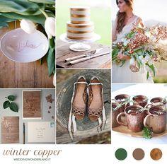 copper winter wedding inspiration