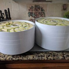 Today I'm dehydrating Granny Smith apples. Once dehydrated they pair very well with several local white wines. With the Laurel Lake wine club pick up party coming in a couple of weeks I'll have dehydrated fruit to share. #wine #liwine http://ift.tt/2p7XnA5