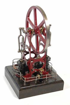 Antiques Atlas - Twin Cylinder Overtype Steam Engine