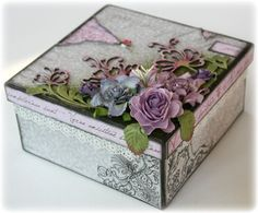 Altered box. Greys and lilas. Such a Pretty Mess