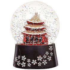 Buy John Lewis Japan Snow Globe, Black/Red online at JohnLewis.com - John Lewis