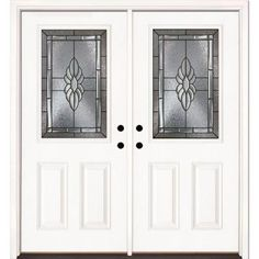 Feather River Doors Sapphire Half Lite Primed Smooth Fiberglass Double Entry Door-8H3190-400 at The Home Depot