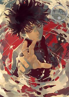 Awesome art by Anime W, Fanarts Anime, Anime Guys, Anime Characters, Mob Psycho 100 Anime, Wow Art, Art Reference Poses, Character Design Inspiration, Animes Wallpapers