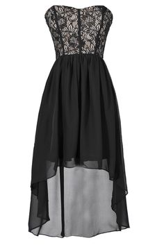 Until We Meet Again Lace High Low Dress  www.lilyboutique.com
