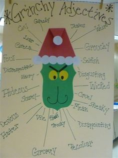 GRINCH ADJECTIVES from 4th Grade Frolics: Anchor Charts