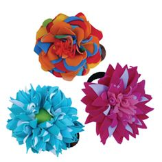 recycled hair accessories - made from swimsuit factory scraps