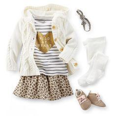 baby girls clothing / love the leopard! #girlsclothing #modainfantil #roupademenina