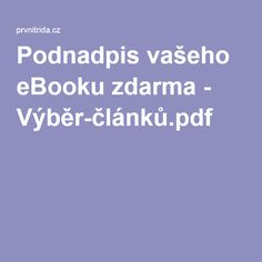 Podnadpis vašeho eBooku zdarma - Výběr-článků.pdf