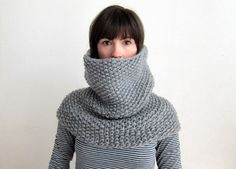 100% wool, chunky cowl on Etsy. I need this for work, where it's freezing all of the time.