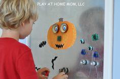Play At Home Mom LLC - magnetic jack o lantern