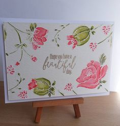 Day 26: A whole card today! Made this for my mum for Mother's Day. It was my…