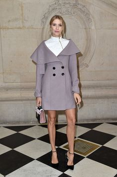 Elena Perminova attends the Christian Dior show of the Paris Fashion Week Womenswear Spring/Summer 2017 on September 30 2016 in Paris France