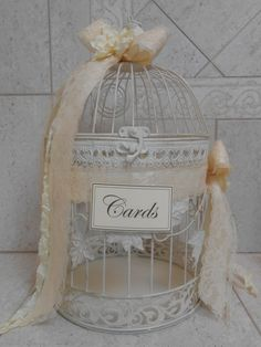 Champagne and gold birdcage wedding card holder! So cute! by ...