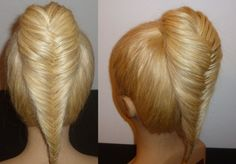 Косичка Рыбий хвост.Прическа для средних и длинных волос. Плетение косичек