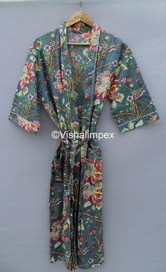 Hand Printed Fabric, Printed Cotton, Printing On Fabric, Maternity Gowns, Maxi Gowns, Cotton Kimono, Long Kimono, Nightwear, Digital Photography