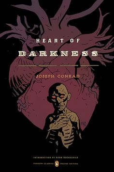 Mike Mignola illustrated cover for Heart of Darkness, from the new batch of Penguin Graphic Classics series.