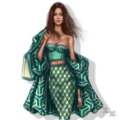 50 fashion illustrations by Shamek Bluwi | The Fashion Coffee
